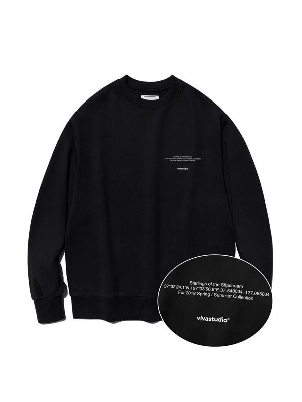 NEW LOCATION LOGO CREWNECK IS [BLACK]