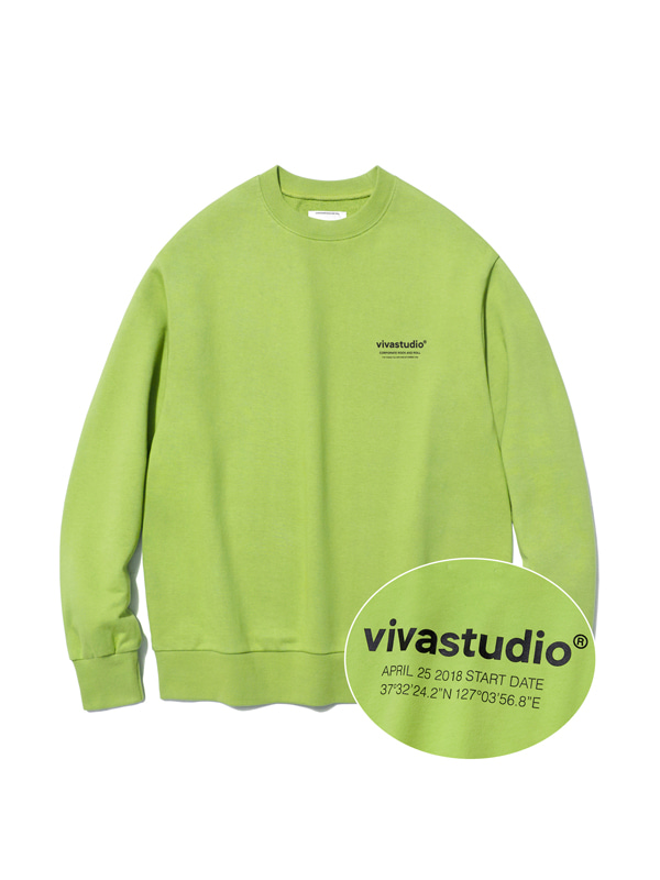 LOCATION LOGO CREWNECK IS [NEON YELLOW]