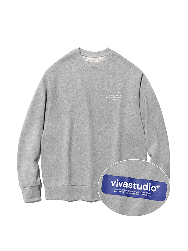 BOX LOGO CREWNECK IS [MELANGE]