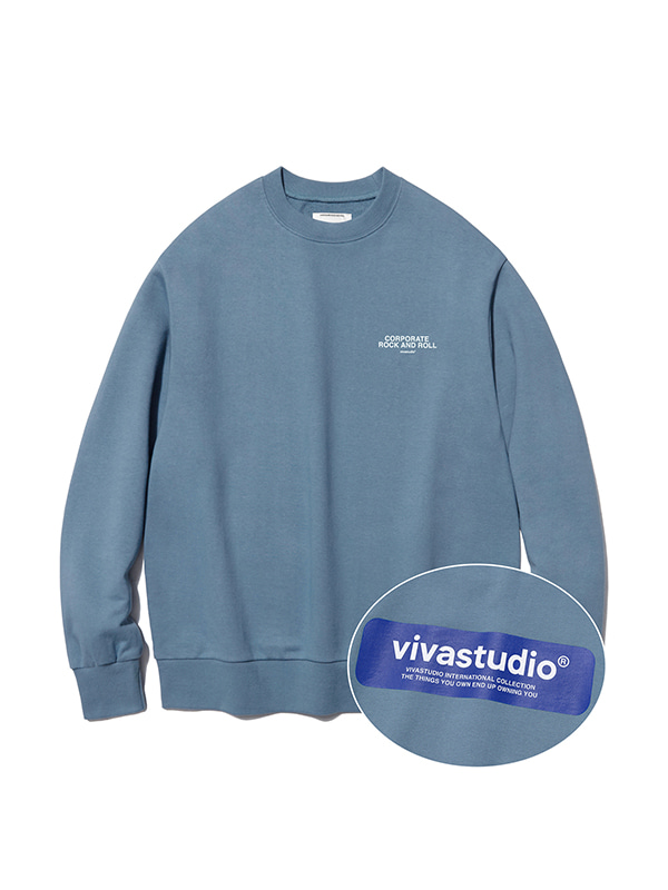 BOX LOGO CREWNECK IS [PASTEL BLUE]