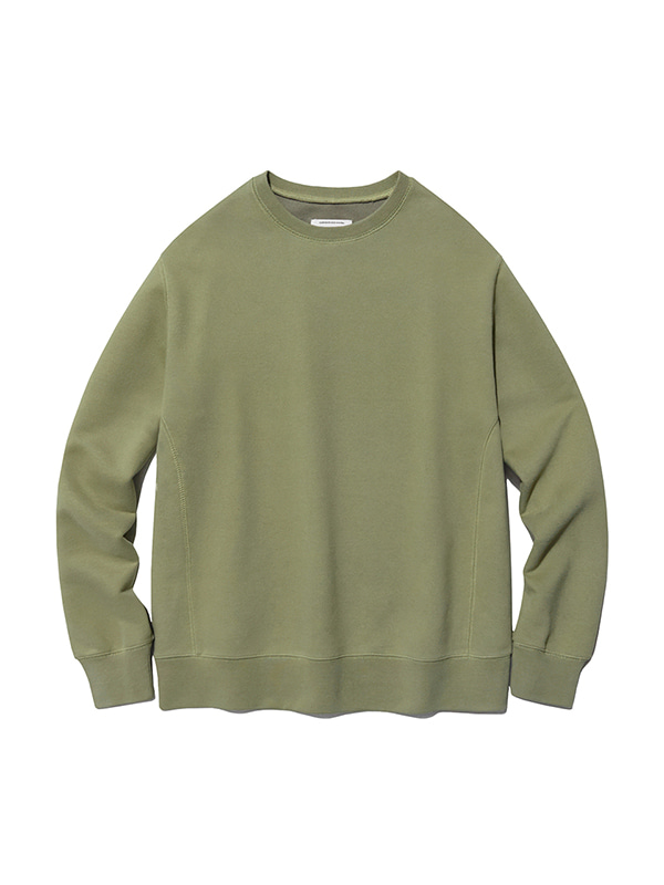 DYED COLOR CREWNECK IS [BEIGE]