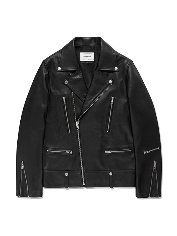 TERRY RIDERS JACKET IS [BLACK]