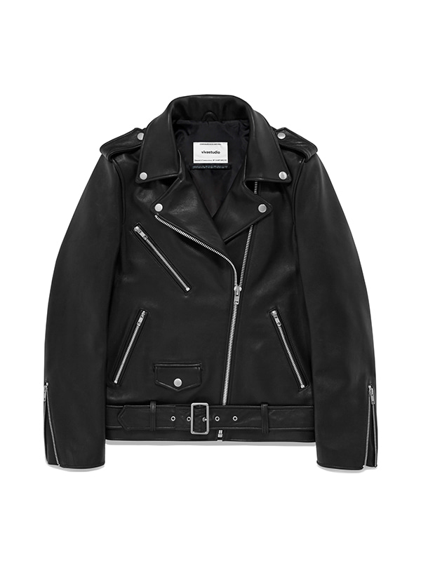 BONNI RIDERS JACKET IS [BLACK]