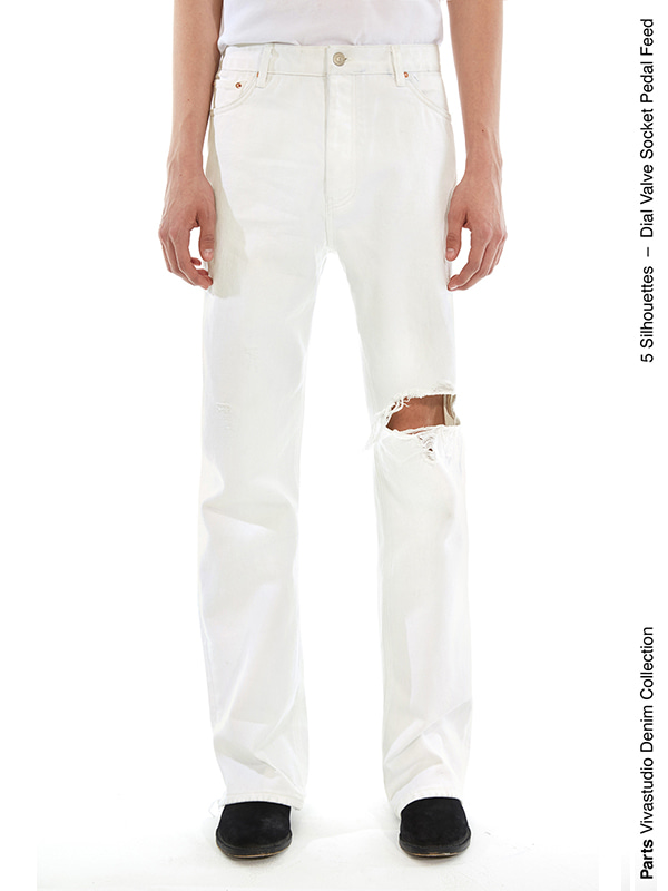 PEDAL JEANS IS [WHITE]
