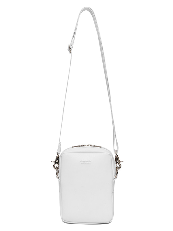 LEATHER MINI BAG IS [WHITE]