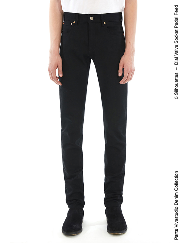 DIAL JEANS IS [BLACK]