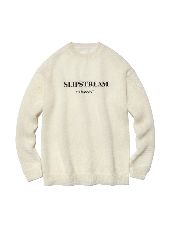 MOHAIR LOGO CREWNECK IS [IVORY]