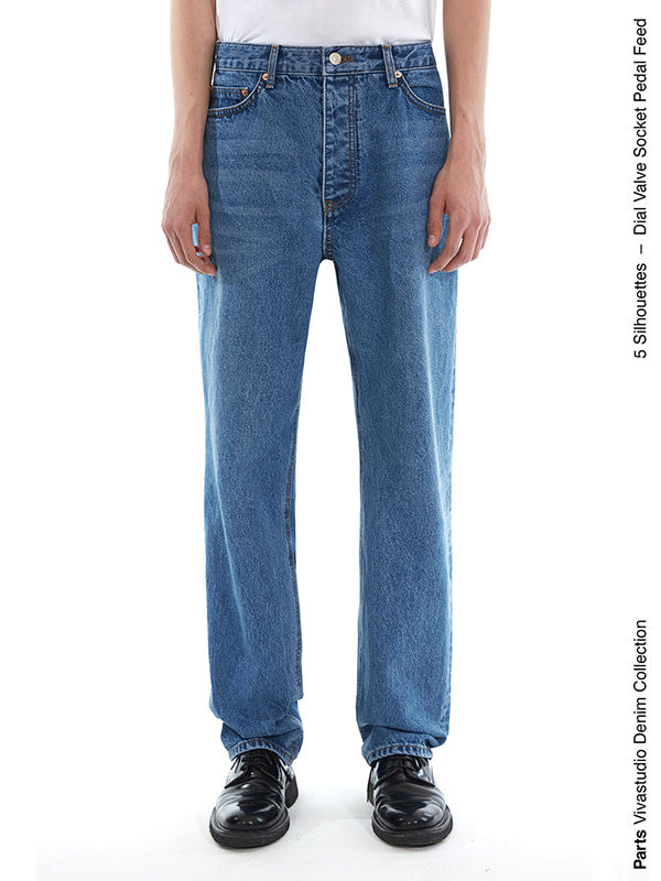 SOCKET JEANS IS [BLUE]
