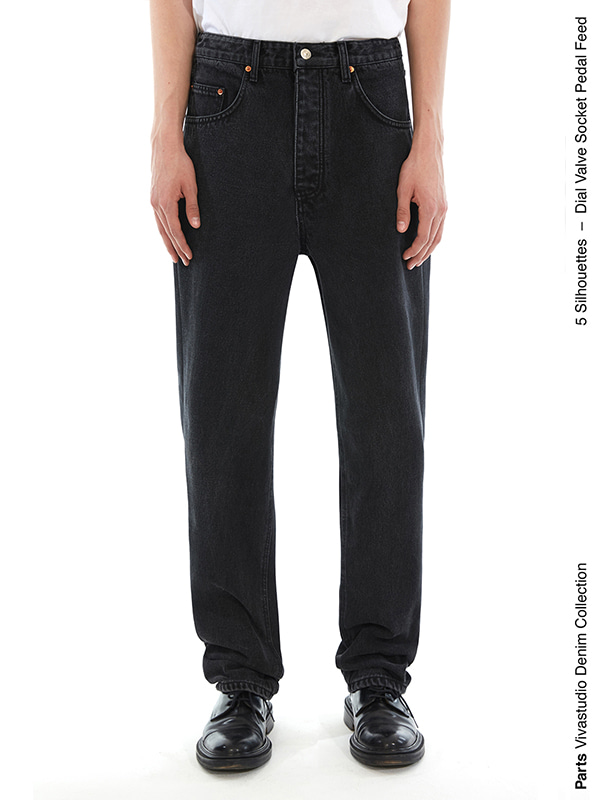 SOCKET JEANS IS [BLACK]