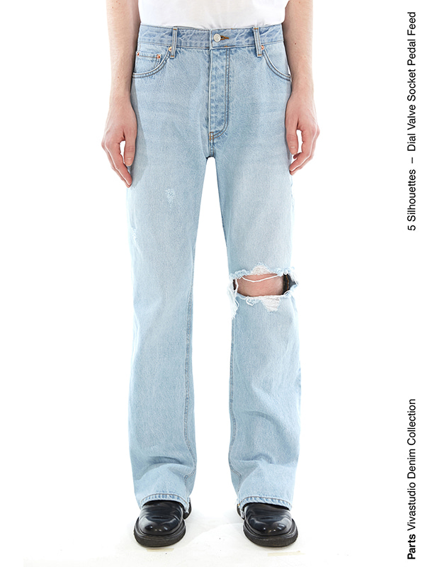 PEDAL JEANS IS [BLUE]