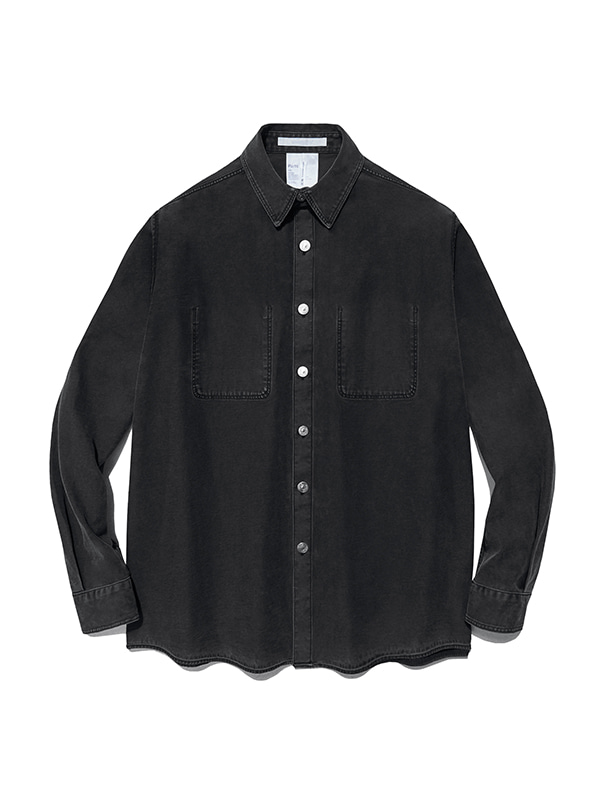 REVERSED DENIM SHIRTS IS [BLACK]