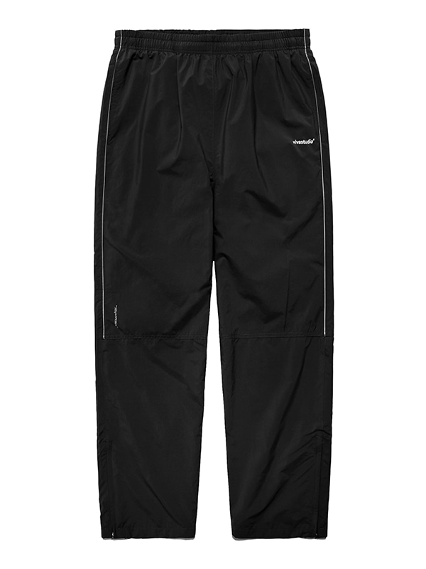 NYLON TRACK PANTS IS [BLACK]