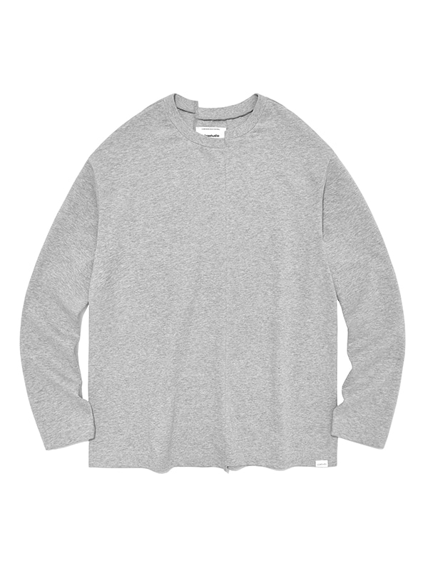 CUTTING LONG SLEEVE IS [GREY]