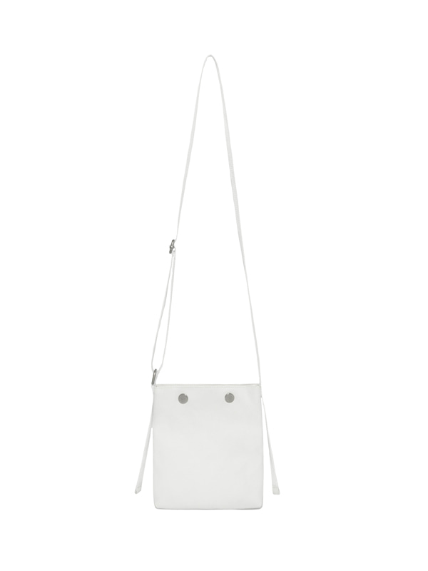 SNAP LEATHER BAG IS [WHITE]