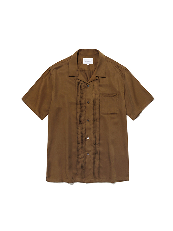 TUCK SHIRTS IS [BROWN]