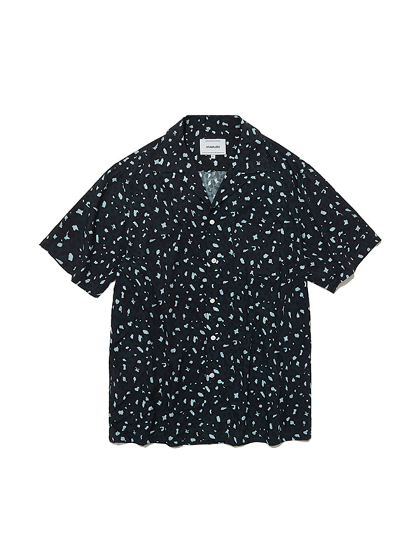 LEOPARD SHIRTS IS [DARK BLUE]