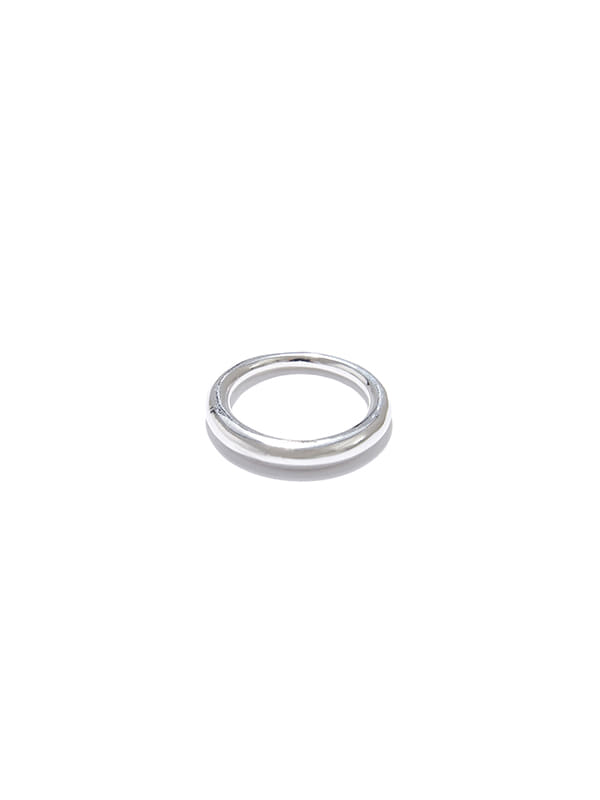 UNBALANCE CIRCLE RING IS [SILVER]