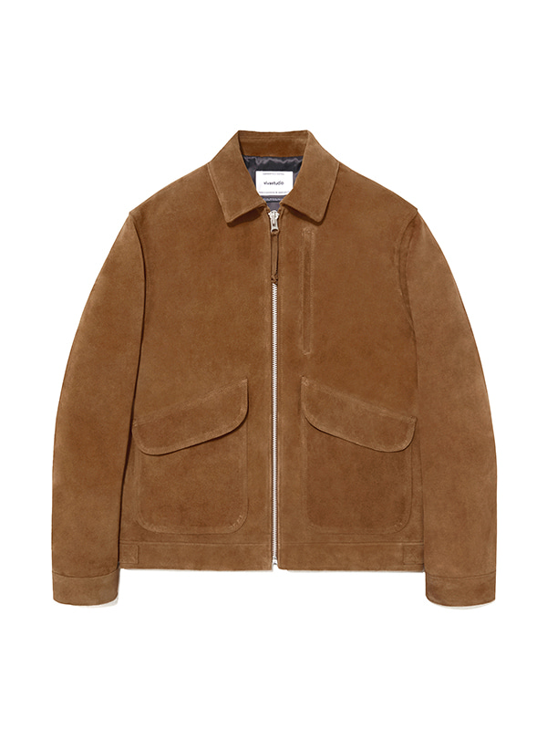 LEATHER CWU JACKET IA [CAMEL]