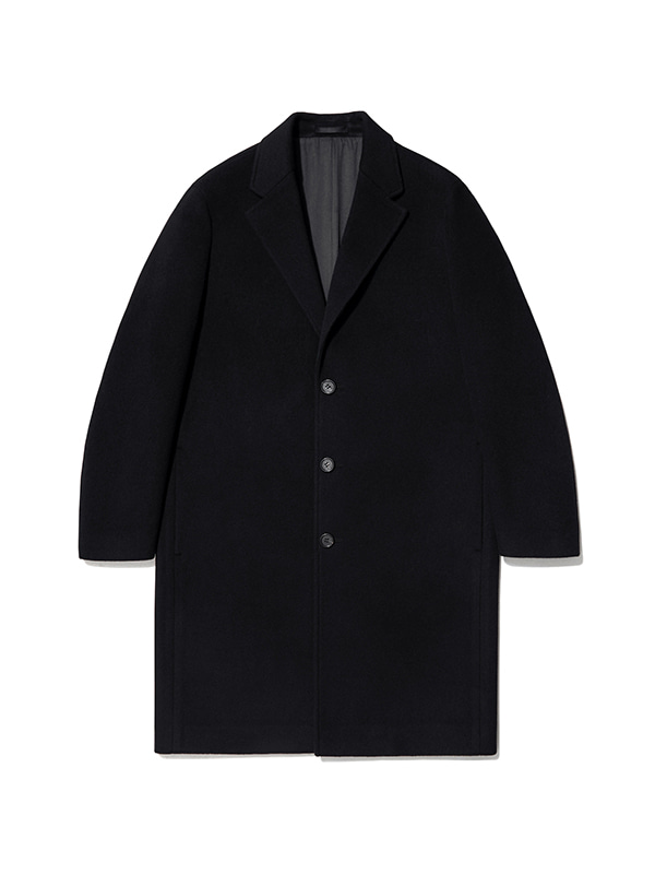 CASHMERE CHESTERFIELD COAT IA [BLACK]