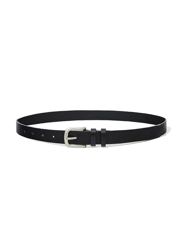 LEATHER BELT IA [BLACK]