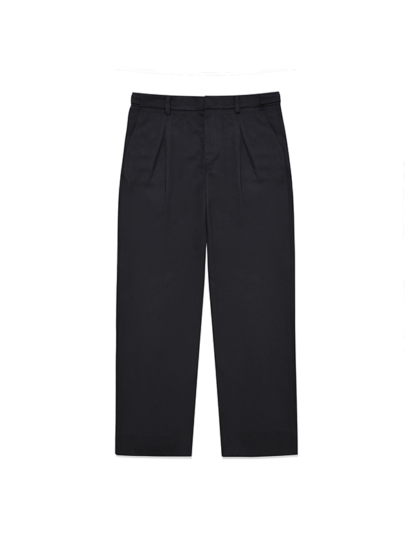 WOOL SLACKS IA [BLACK]
