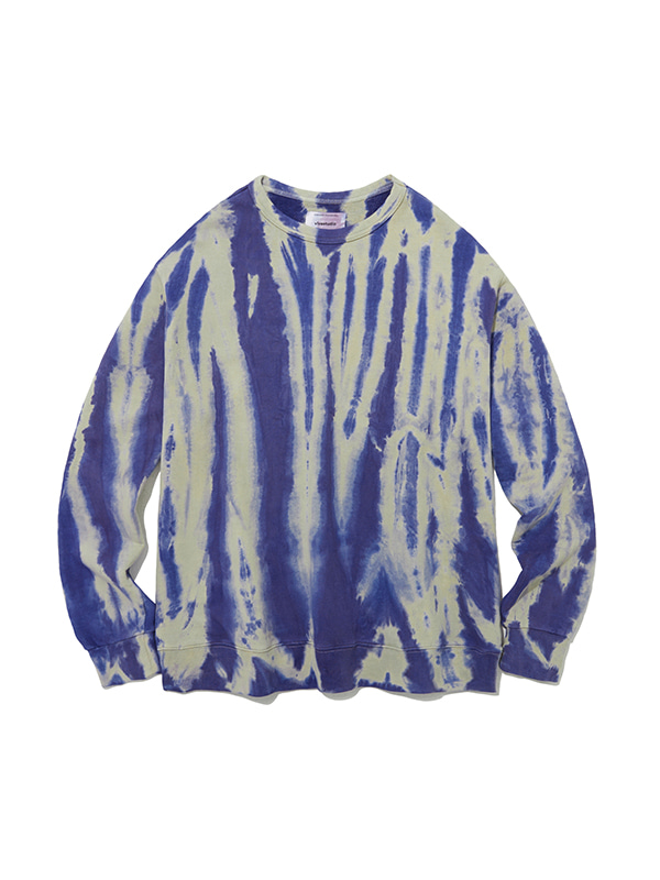 SHOWER DYEING CREWNECK IA [BLUE]