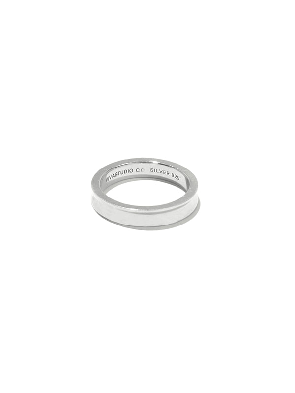 CURVED RING IA [SILVER]