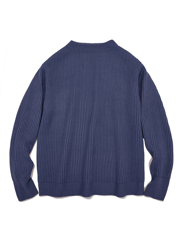 HALF NECK HEAVY KNIT IA [PASTEL BLUE]
