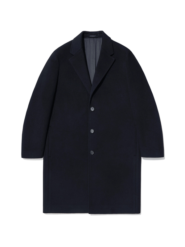 CASHMERE CHESTERFIELD COAT IA [NAVY]