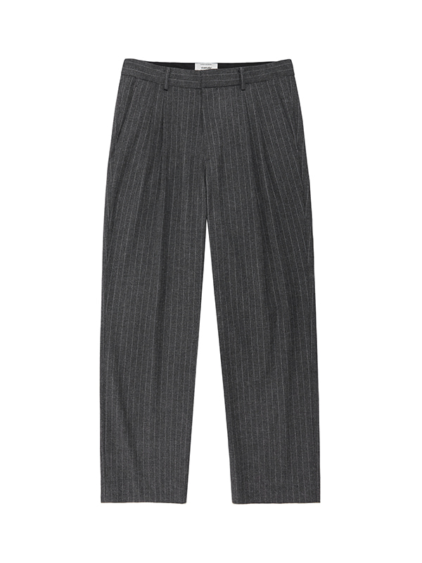 TWO TUCK SLACKS IA [STRIPE]