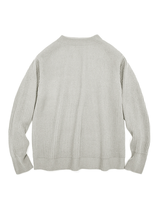 HALF NECK HEAVY KNIT IA [BEIGE]