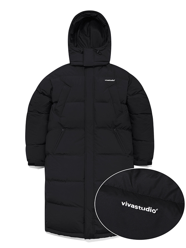 LONG TEAM DOWN PARKA IA [BLACK]