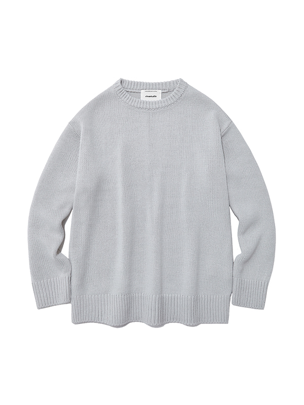 BASIC KNIT IA [LIGHT GREY]