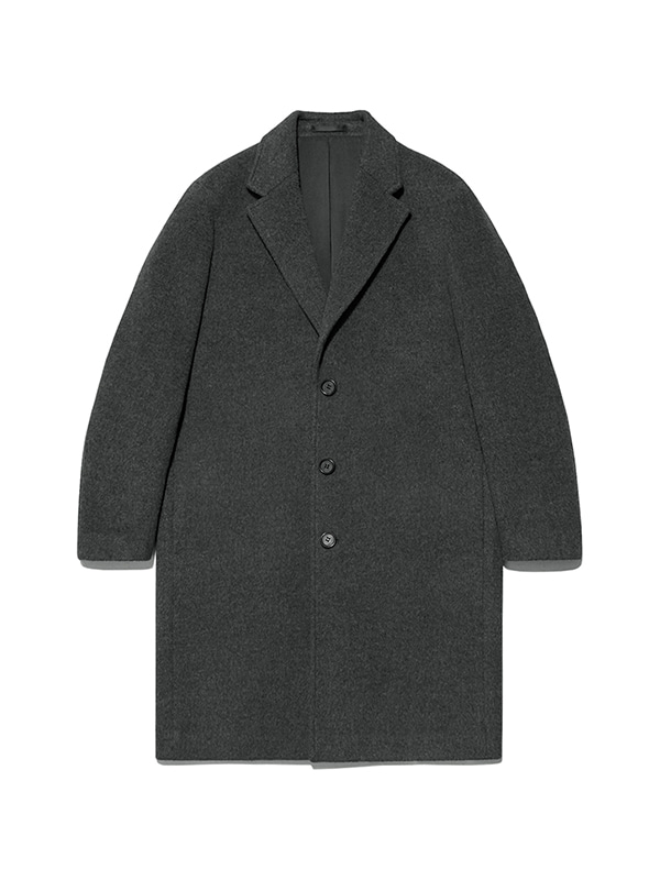 CASHMERE CHESTERFIELD COAT IA [CHARCOAL]