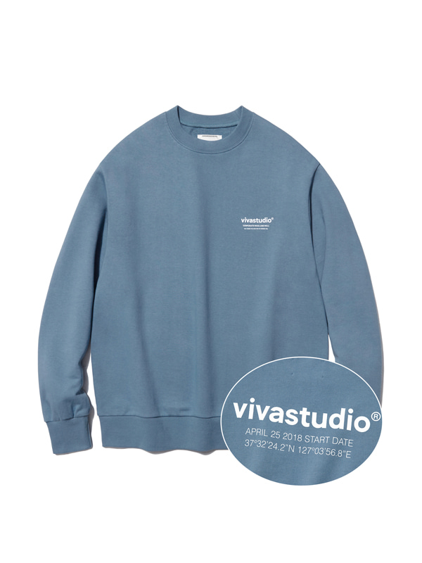 LOCATION LOGO CREWNECK HA [PASTEL BLUE]