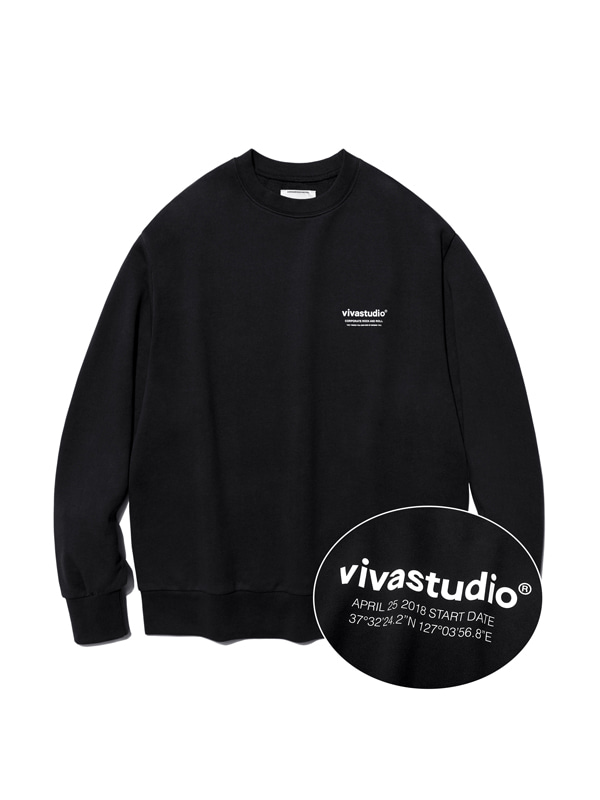 LOCATION LOGO CREWNECK HA [BLACK]
