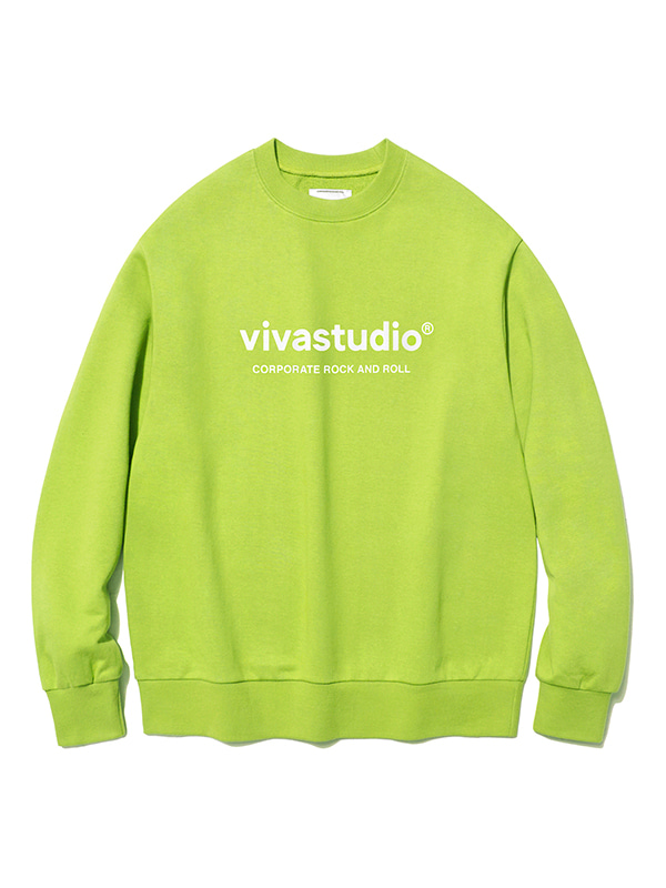 ORIGINAL LOGO CREWNECK JS [LIME YELLOW]