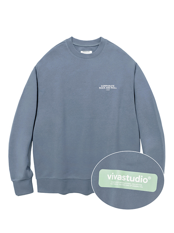 BOX LOGO CREWNECK JS [COOL GREY]
