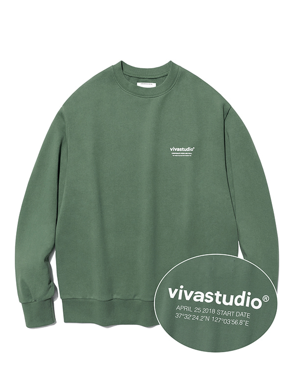 LOCATION CREWNECK JS [GREEN TEA]