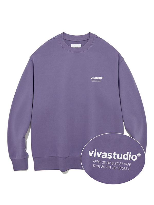 LOCATION CREWNECK JS [MIDDLE PURPLE]