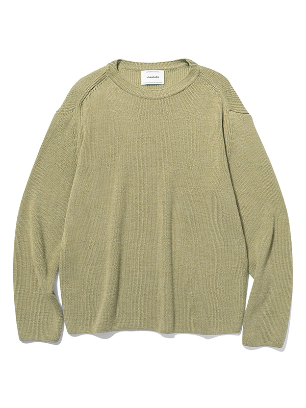 BASIC CUTTING KNIT JS [LIGHT KHAKI]