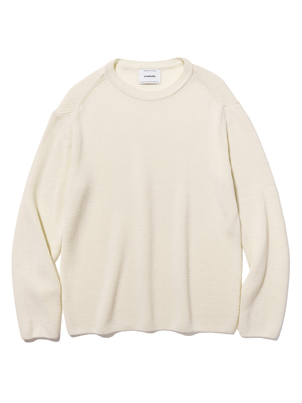 BASIC CUTTING KNIT JS [IVORY]