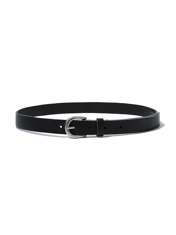 SLIM LEATHER BELT JS [BLACK]