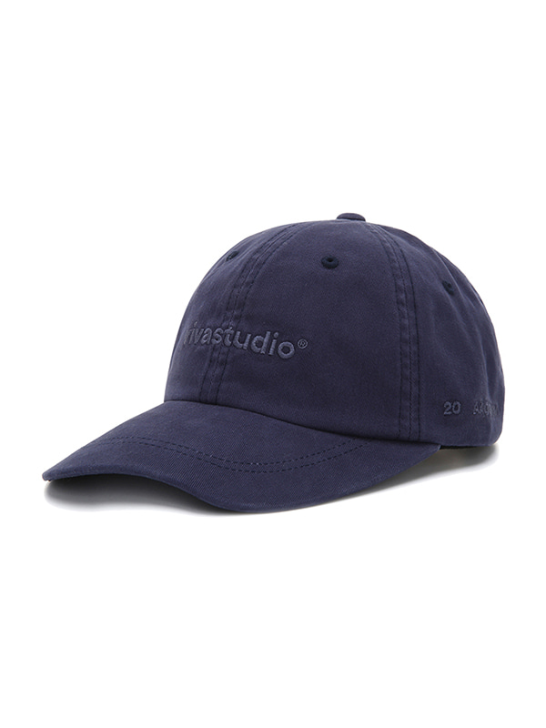WASHED LOGO BALL CAP JS [BLUE]