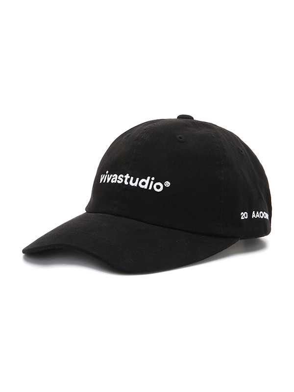 WASHED LOGO BALL CAP JS [BLACK]