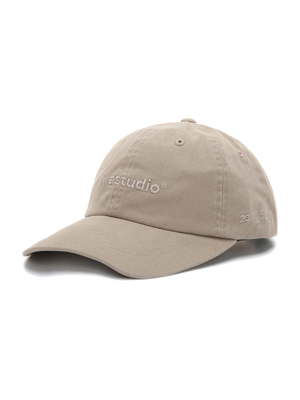 WASHED LOGO BALL CAP JS [BEIGE]