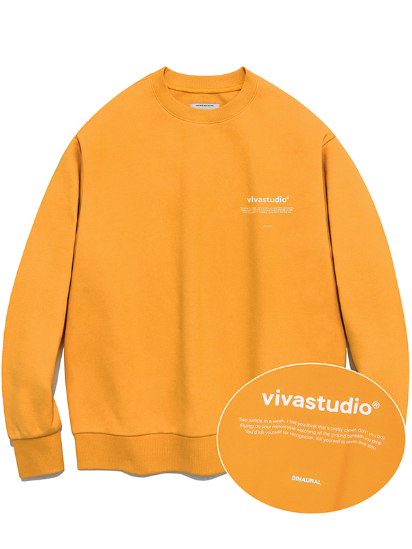 NEW BINAURAL CREWNECK IA [ORANGE]
