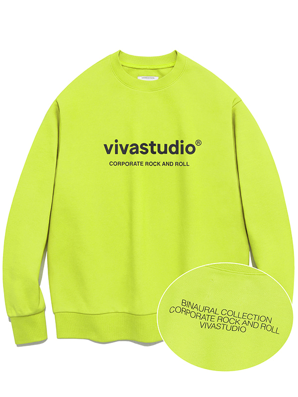 BINAURAL CREWNECK IA [LIME YELLOW]