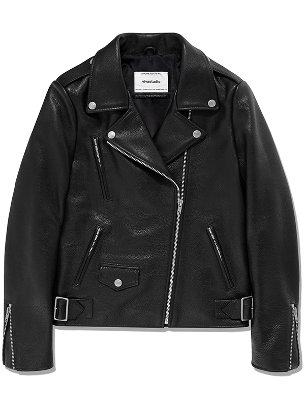 JANIS RIDERS JACKET JS [BLACK]