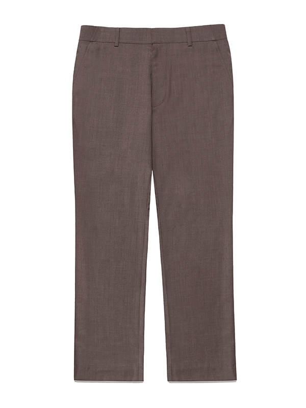 BOOTS CUT SLACKS JS [BROWN]